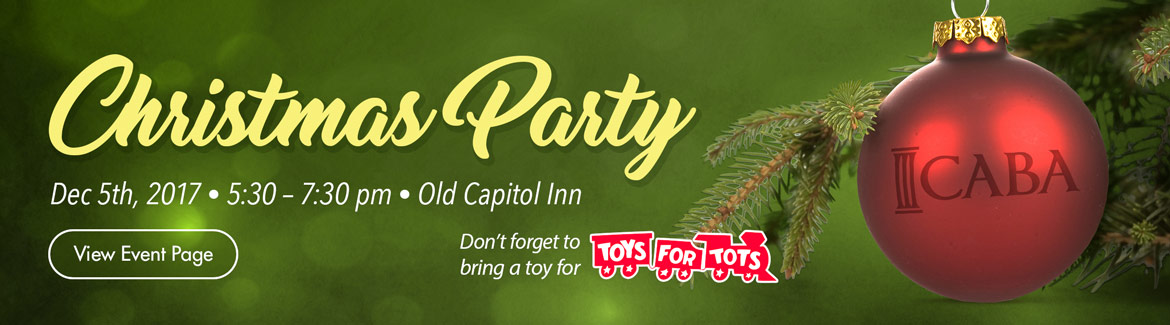 2017 CABA Christmas Party, Dec 5th 2017 at the Old Capitol Inn