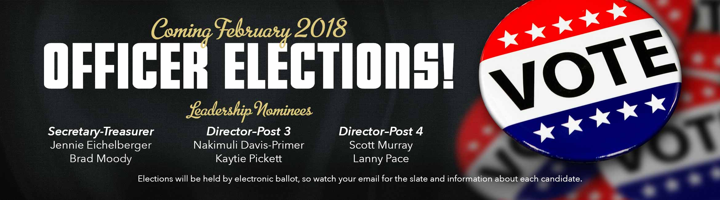 February 2018 CABA Officer Elections